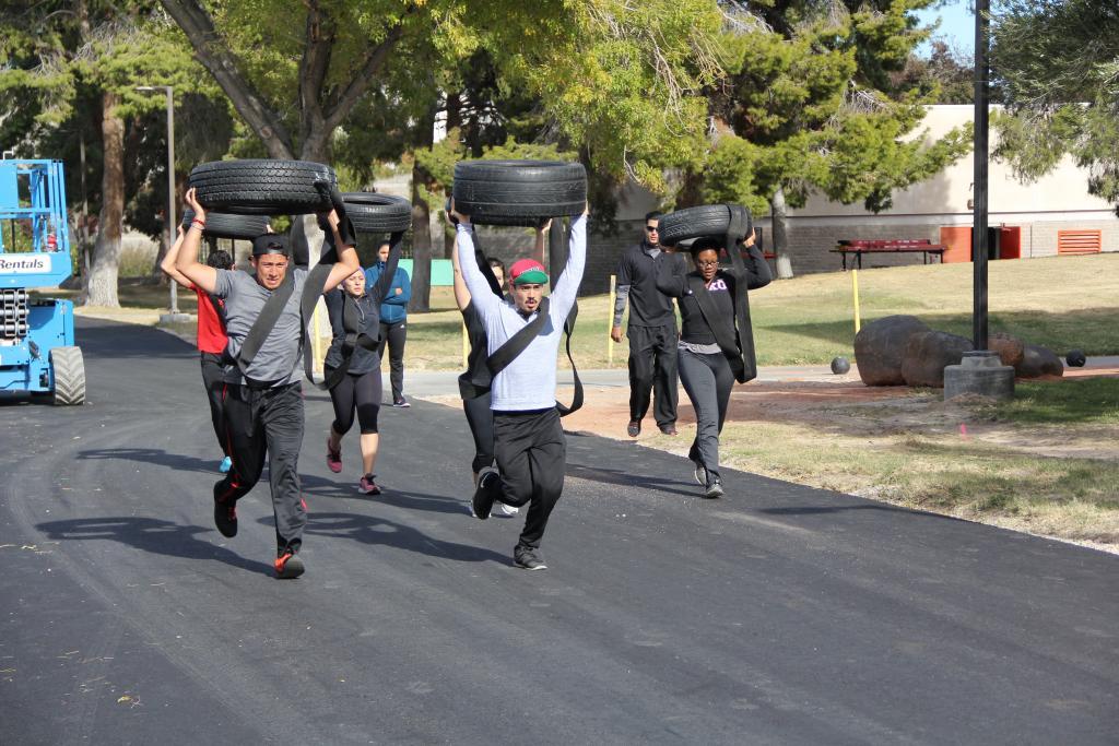 Overhead tire run