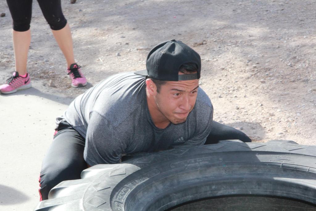 Large tire flip