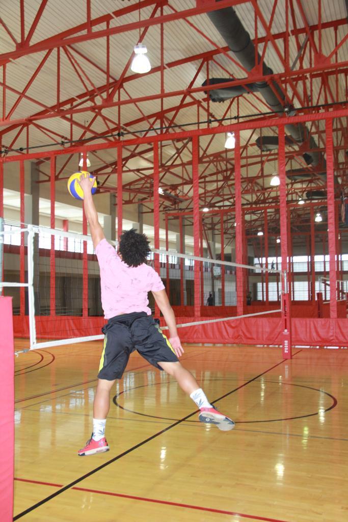 Channeling Michael Jordan's volleyball skills